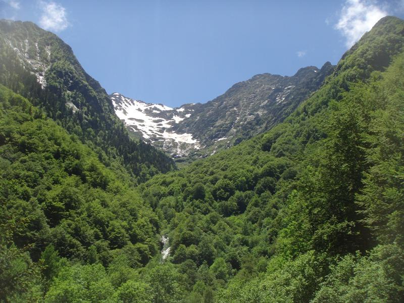 Cascade toward Mont Rouche