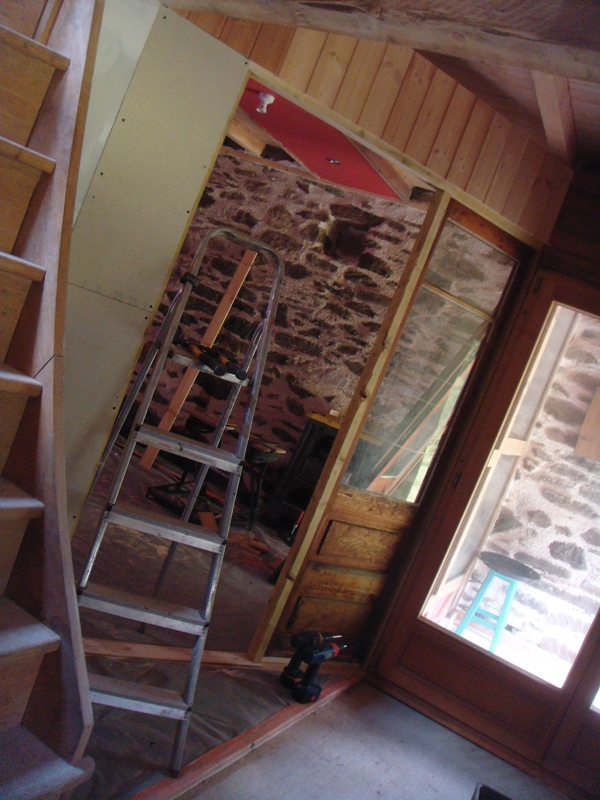 Internal walls started