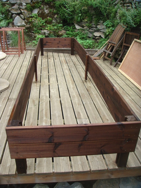 Raised bed in the making