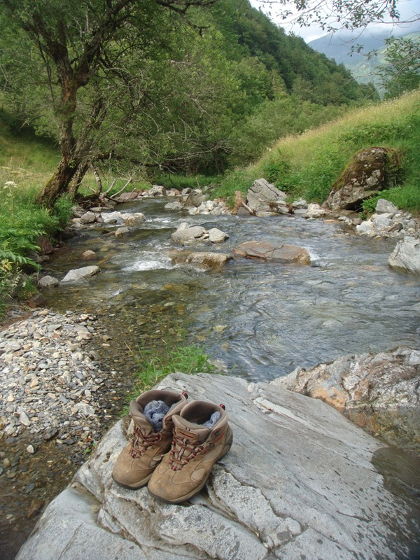 Boots and stream