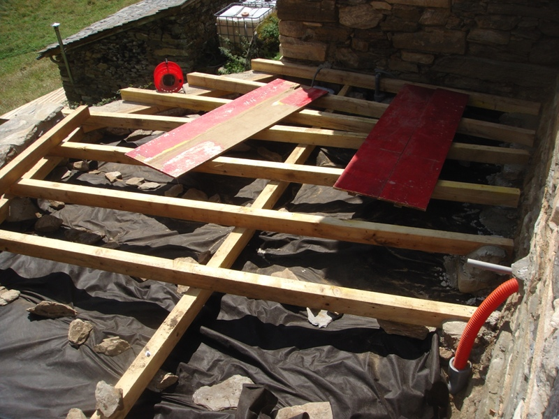 Gallery of the barn outside an eco friendly renovation for Garden decking framework