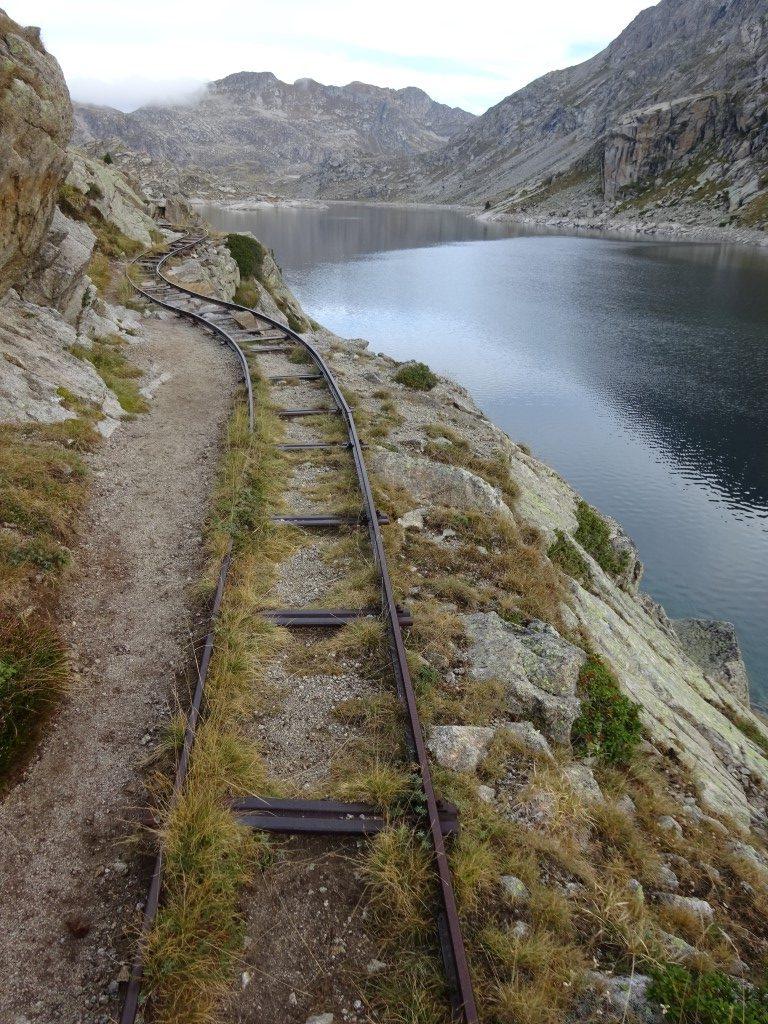 Buckled rail tracks