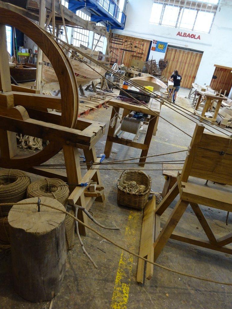 Boat builders workshop