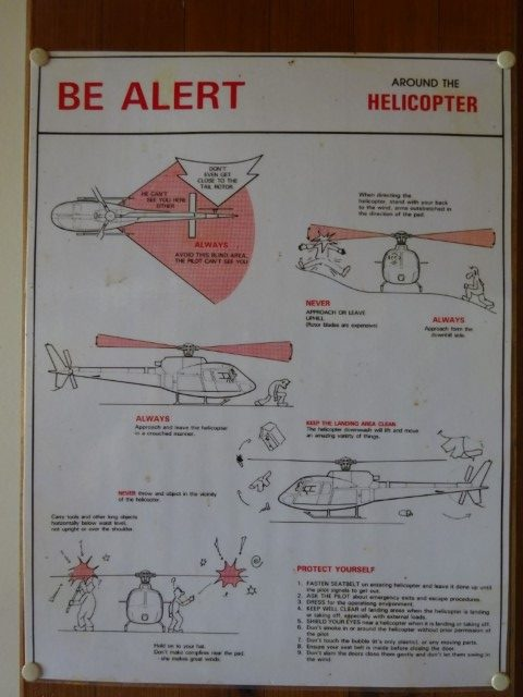 Be Alert around helicopters