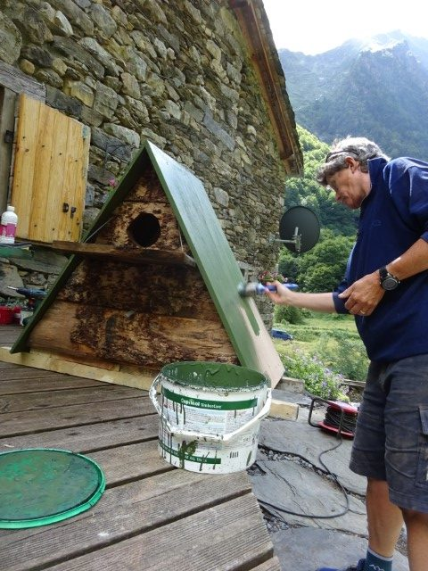 Owl box in the making