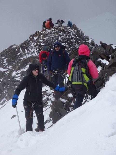 Carol ascent of Stok Kangri