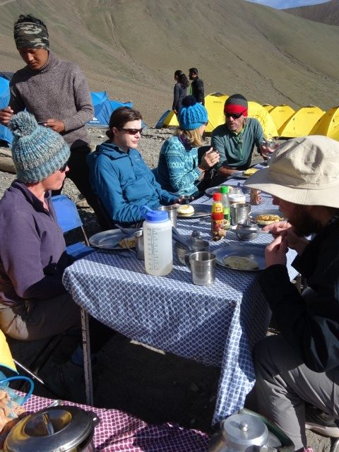 Last breakfast at Base Camp
