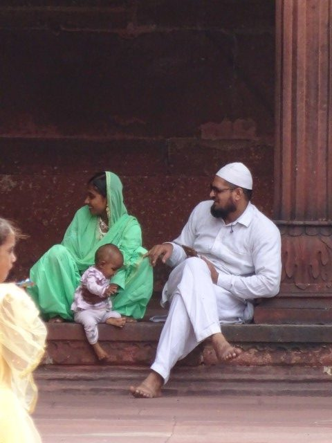 Family at the mosque