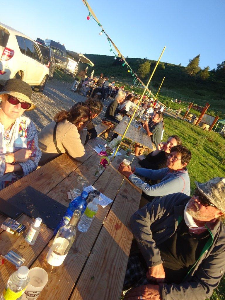 Pop up restaurant at Col de la Port